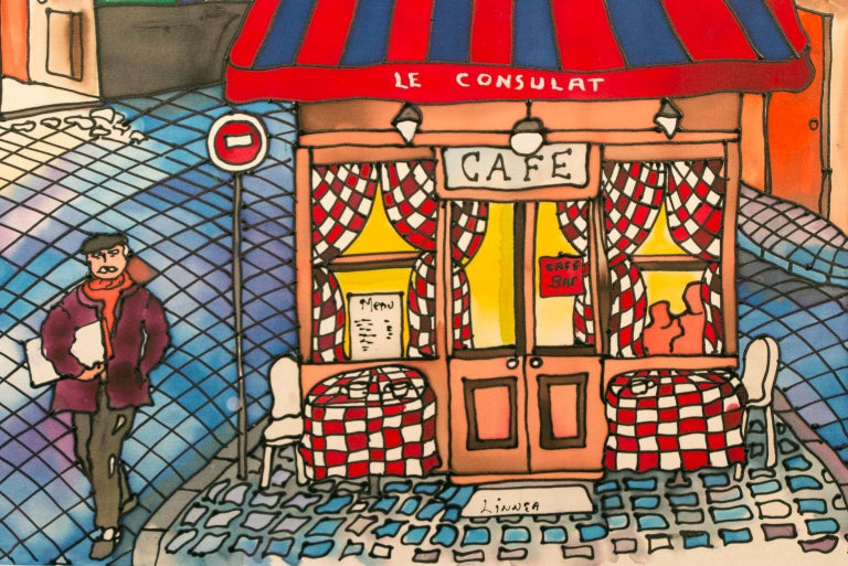 Linnea Pergola Quot Montmartre Caf 233 S Quot Original Pop Art Ink