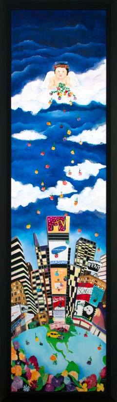 """Tears From Heaven"" Massive 7-foot Pop Art Acrylic Painting by Linnea Pergola"