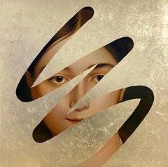 Fake Abstract (Gold on Ingres)