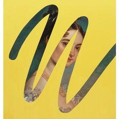 Fake Abstract ( Yellow on Sir Thomas Lawrence)
