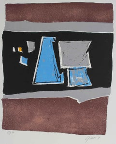 Geometric Abstract Lithograph, 1971