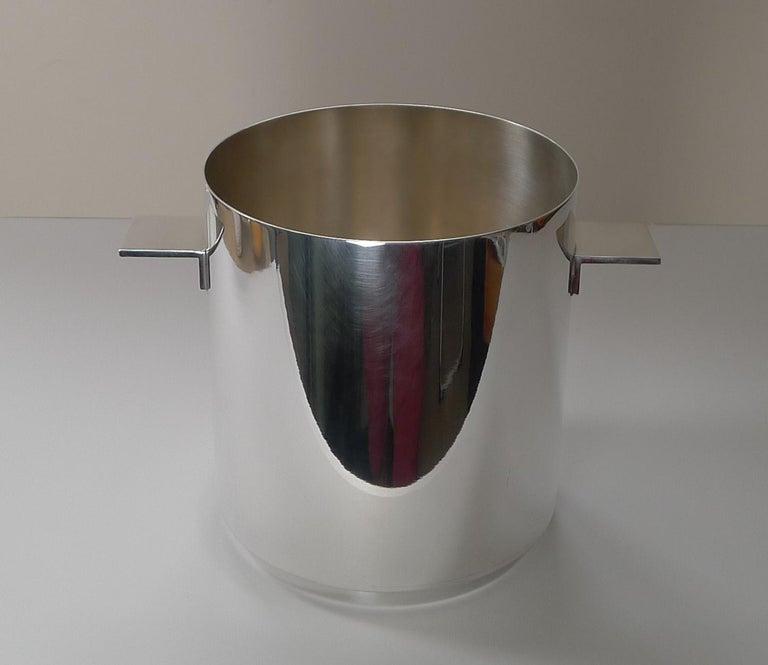 Mid-Century Modern Lino Sabatinni For Christofle, Paris - Champagne Bucket / Wine Cooler For Sale