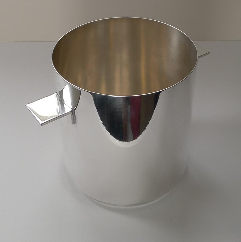French Lino Sabatinni For Christofle, Paris - Champagne Bucket / Wine Cooler For Sale
