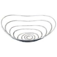 Lino Sabattini Cesto Silver Plate Italian Design Sculptural Sabattini Argenteria