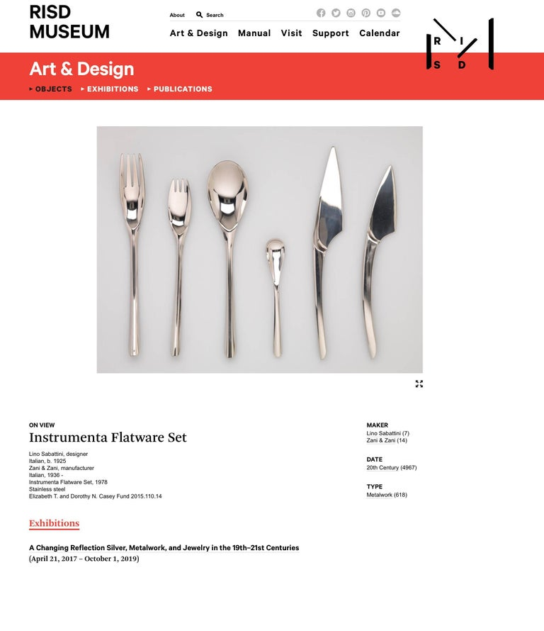 Lino Sabattini Instrumenta Flatware Service for Eight For Sale 1