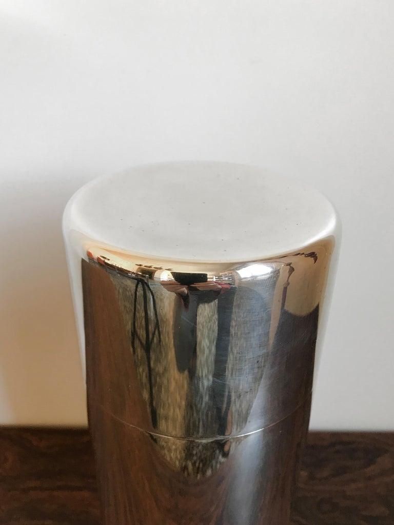 Italian Lino Sabattini Made in Italy Decorative Box in Silver Metal, 1960s For Sale