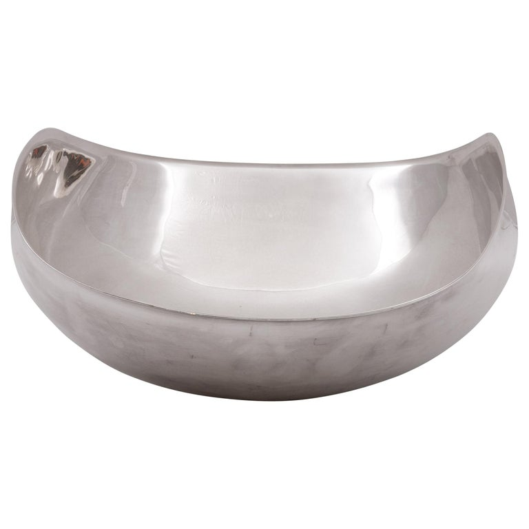 Lino Sabattini Signed Sculptural Silver Plate Centrepiece Bowl, Italy 1970s For Sale