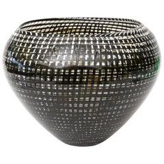 Lino Tagliapietra Blown Glass Tessuto Vase, Bowl or Vessel Sculpture