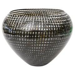 Lino Tagliapietra Blown Glass Tessuto Vase or Vessel Sculpture