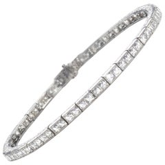 Linz Brothers Art Deco Diamond and Platinum Line Bracelet, circa 1925