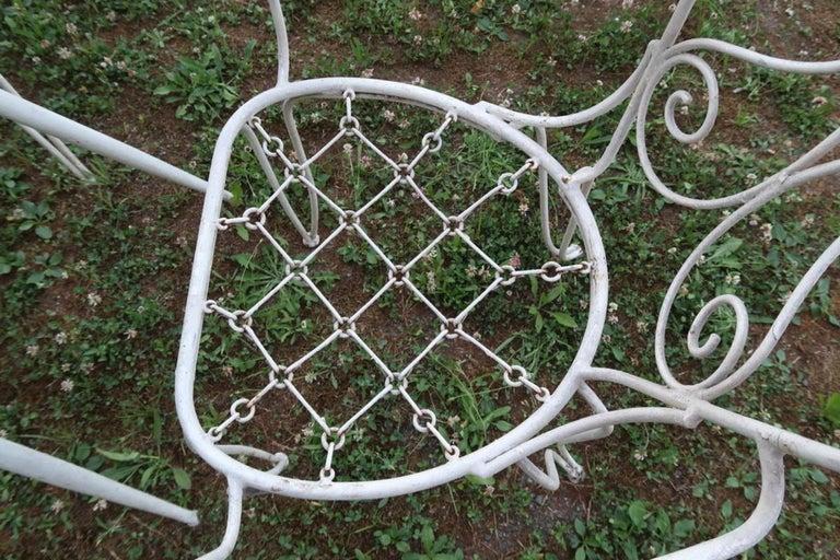 Lio Carminati Set of Eight Lacquered Iron Garden Chairs Casa & Giardino, 1930s 1