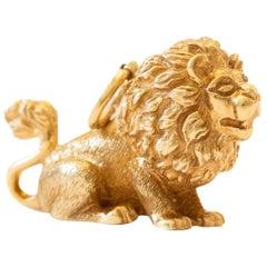 Lion Charm 3D in 16 Karat Yellow Gold