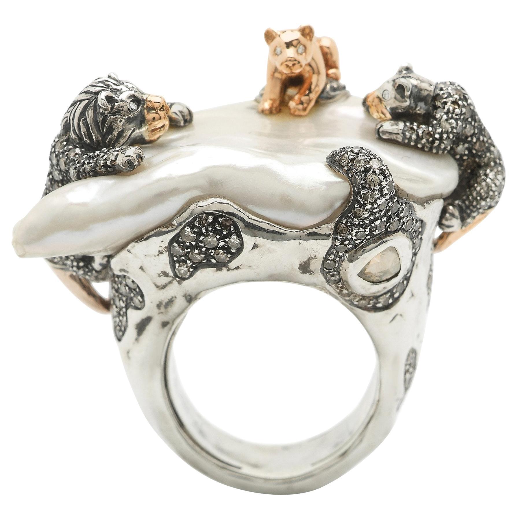 Lion Family Ring