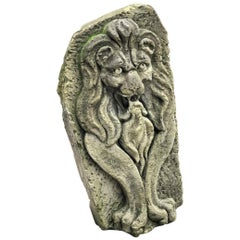 Lion Hand Carved Stone Fountain Head Wall Mount Sculpture Spout Water Feature LA