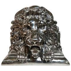 Lion Head Cast Sculpture