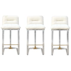 Lion in Frost Bar Stools, Set of 3