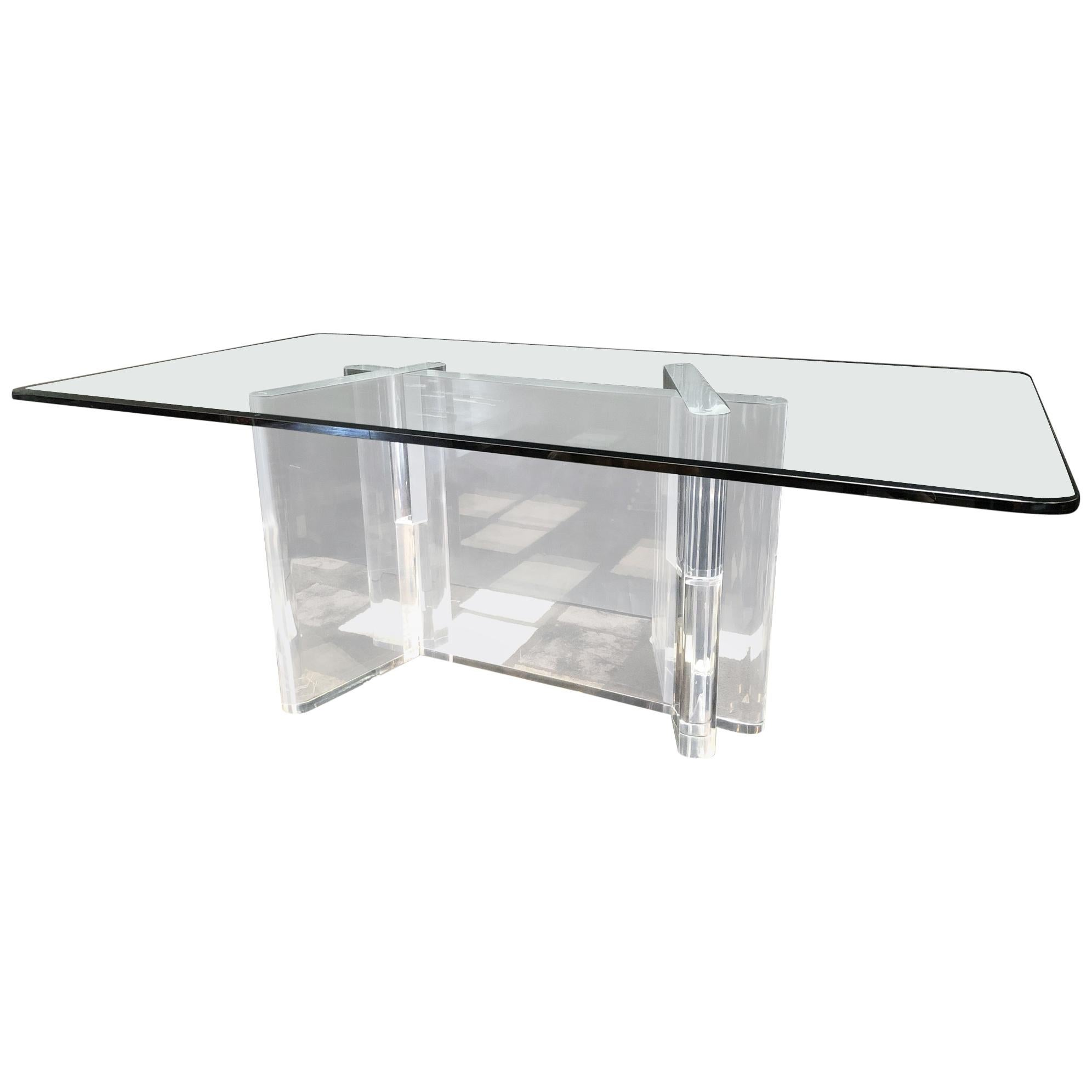 Lion in Frost Signed Dining Table