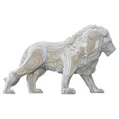 Lion Medium Polished Sculpture