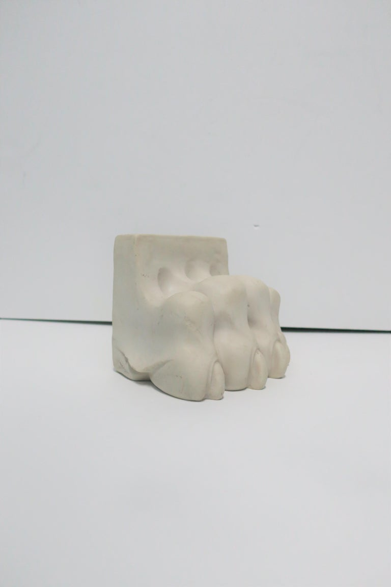 Lion or Tiger Cat Paw Sculpture or Bookend For Sale 4