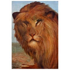 Lion Portrait Oil Painting
