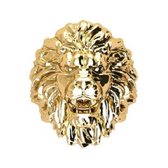 Lion Ring 18k Solid Gold Lion Ring