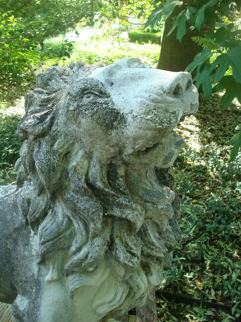 Lion Statues For Garden Vintage Cast Stone For Sale At