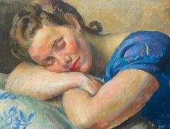 Portrait of a Sleeping Woman   Original Oil Painting  Modern British