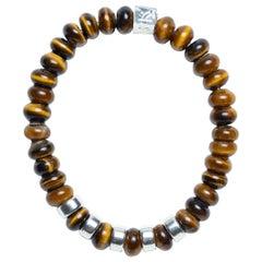Lion's Eye - Tiger's Eye Sterling Silver Bracelet