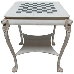 Lions Head Chess Table