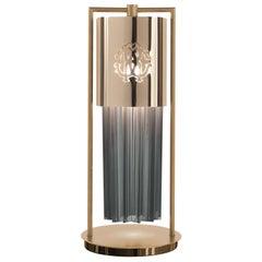 Lipari Table Lamp in Metal and Glass by Roberto Cavalli Home Interiors