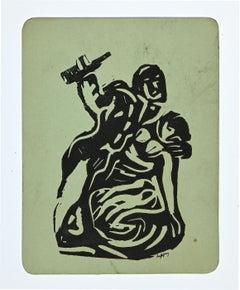 The Couple - Original Lithograph by Lippy Lipshitz - 1956