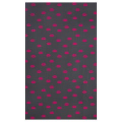 'Lips' Contemporary, Traditional Wallpaper in Hot Pink on Grey
