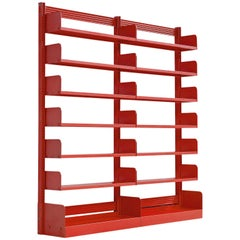 Lips Vago 'Congresso' Red Metal Book Case