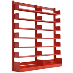 Red Bookcases