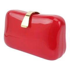 Lipstick Red Lucite Box Handbag, 1980's