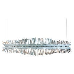 """Liquid 48"""" Linear Chandelier in Stainless Steel by David D'Imperio"""