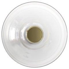 'LIQUID ALABASTER' Glass and Brass Contemporary Wall Light