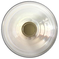 Liquid Clear Glass and Brass Contemporary Wall Light Scone