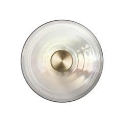 'LIQUID CLEAR' Glass & Brass Contemporary Wall Light, Sconce