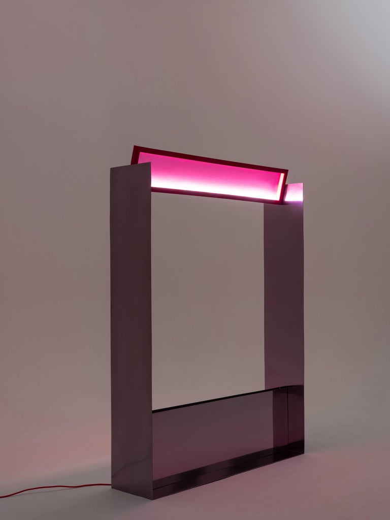 Modern Liquid Collusion Small Light Sculpture by Liam Gillick & Harry Nuriev in Yellow For Sale