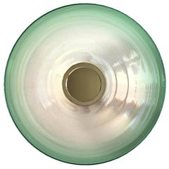 Liquid Green Glass & Brass Contemporary Wall Light