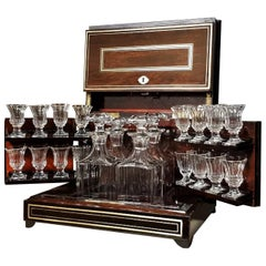 Liquor Cabinet Cave a Liqueur Boulle Marquetry, Napoleon III France, 1865