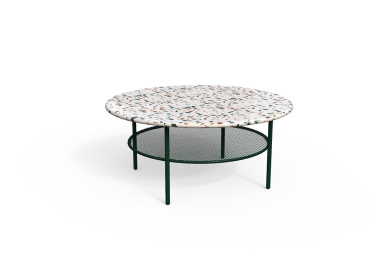 Powder-Coated Lira Coffee Table with Terrazzo, Contemporary Mexican Design For Sale