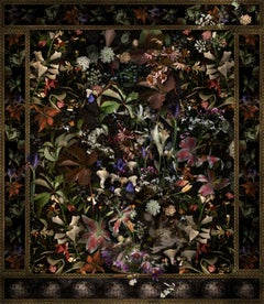 For Scout A, Very Good Dog: Modern Baroque Style Floral Still Life Digital Print