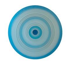 Oculus No. 6, Lisa Bartleson, 2020, Cast Bioresin on Formed Canvas- Blue pattern