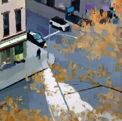 "Lisa Breslow ""Autumn Shadows"" -- Oil painting on Panel"