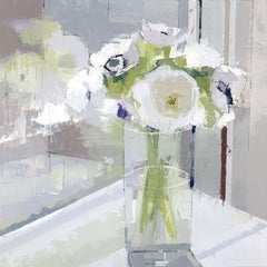 "Lisa Breslow ""Flower Reflections"" Floral Still Life Oil Painting"