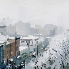 """Lisa Breslow """"Snowlight"""" -- Oil painting on Panel"""