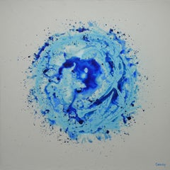 Blue Burst, Painting, Acrylic on Canvas