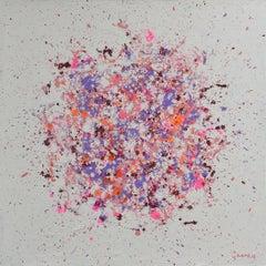 Petal Burst 19, Painting, Acrylic on Wood Panel